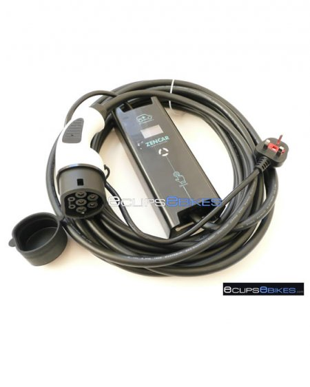 Zencar EVSE Charger - Mode 2 UK To Type 2 - 10A Adjustable - 10M